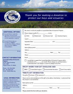 CBBEP Donation Form